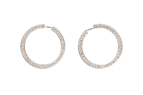 Diamond Hoop Clips By Valerie Le Heutre
