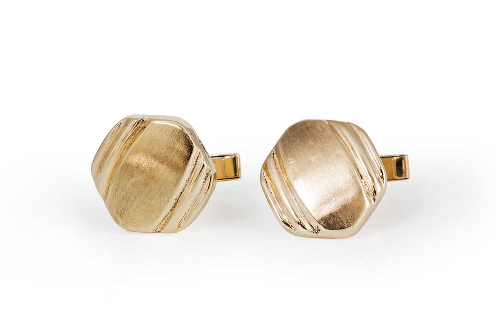 1960's Gold Cuff Links
