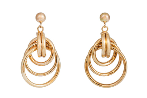 Loop the Loop Gold Earrings