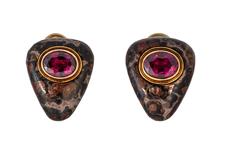 Jasper and Pink Garnet Earrings by Deakin & Francis