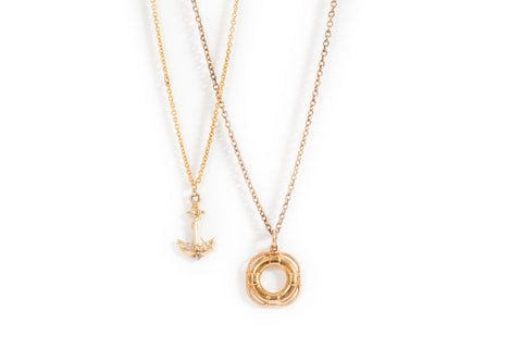 Vintage Anchor Pendant and Chain
