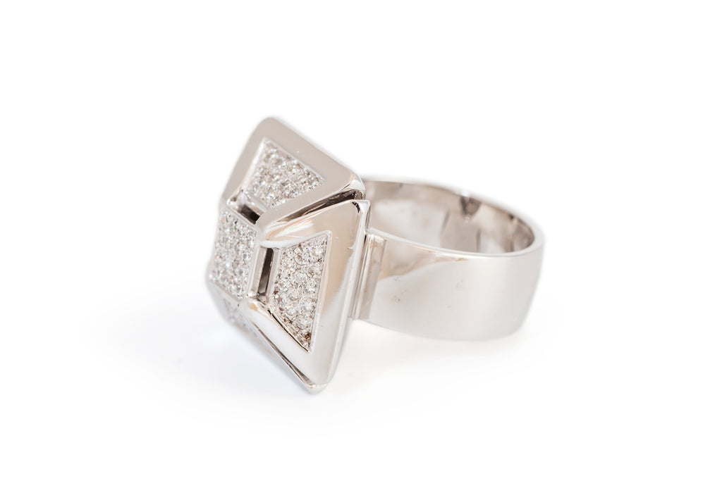 Architectural Diamond Ring