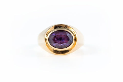 Oval Baby Amethyst Vintage Ring
