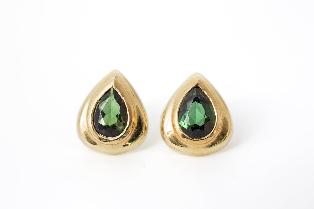 Peridot Pear Earrings