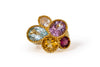 Italian Multi Gem Cocktail Ring