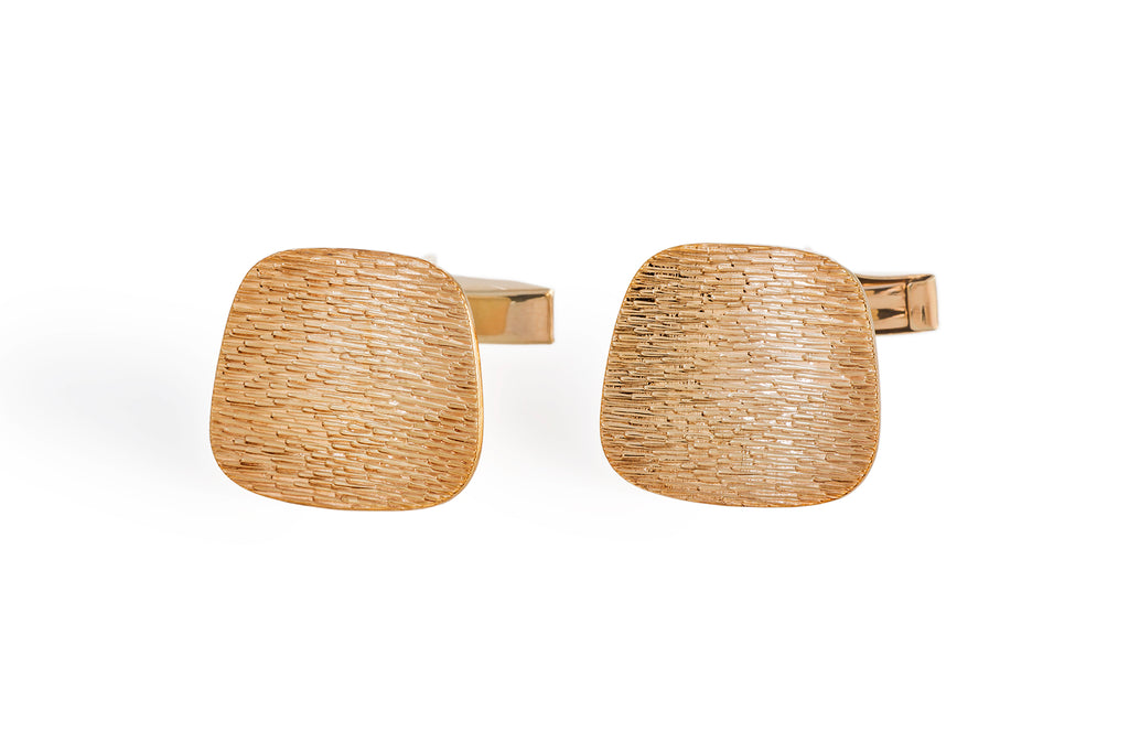 Textured Vintage Gold Cuff Links
