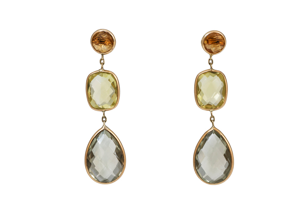 Modern Multi Gem Cocktail Earrings