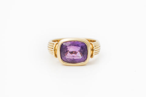 Amethyst Gold Ring by Cassandra Goad
