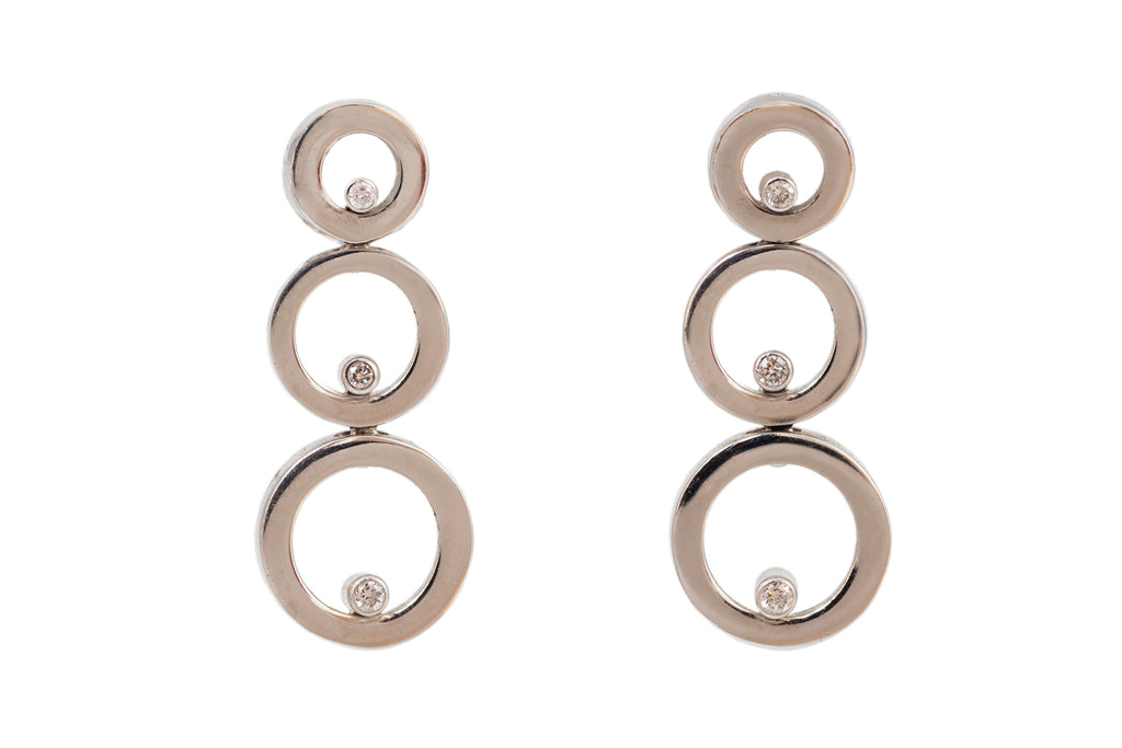 Diamond Circle Earrings