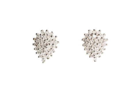 Pave Diamond Pear Ear Studs