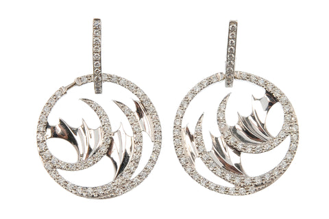 Mini Vortex Diamond Ear Pendants by Stephen Webster