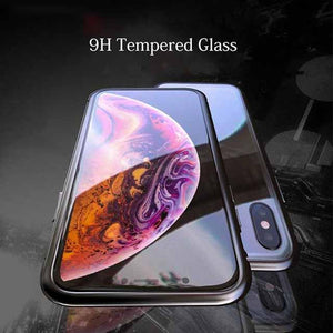 For iPhone11 Magnetic Adsorption Transparent Tempered Glass Two side Glass Cover Case-Buy The Second One, HALF PRICE