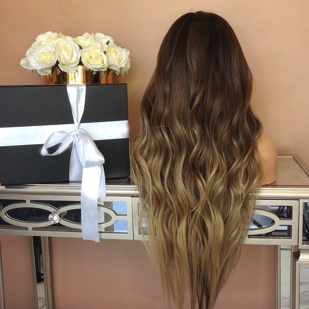 Black and brown wavy hair