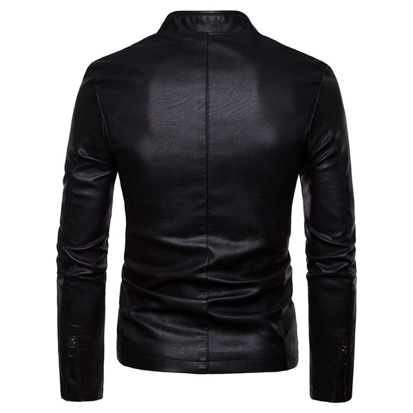 Men's Locomotive PU Leather Casual Jacket