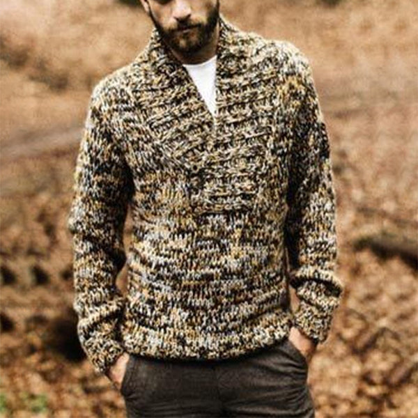 Man'S Individuality Printed Colour Knitwear