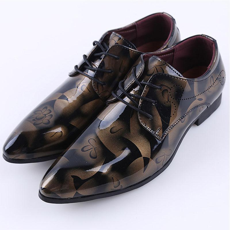 Shang pointed head casual front lace-up shoes