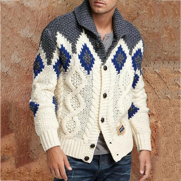 Men's Casual Color Matching Sweater