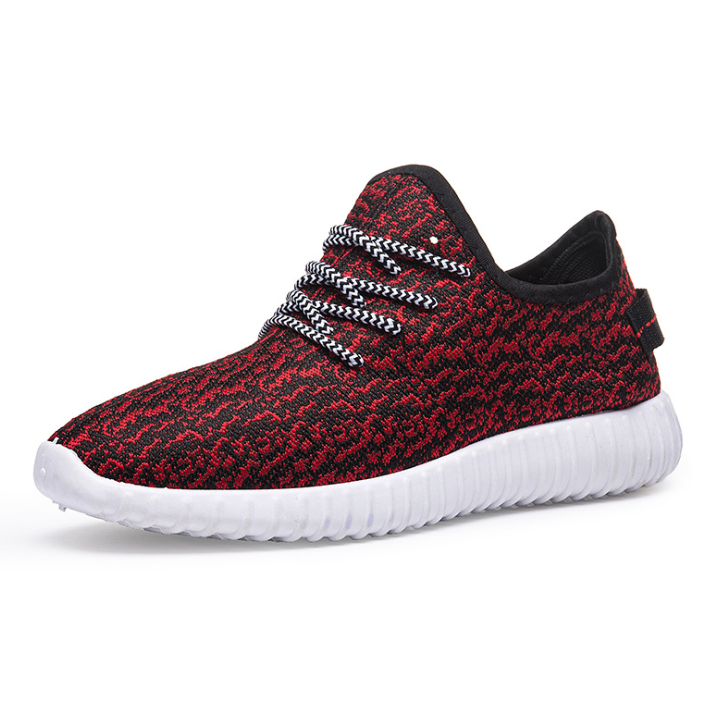 Men Knitted Fabric Light Weight Walking Casual Sneakers