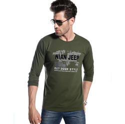 JEEP Long Sleeve Cotton T-Shirt