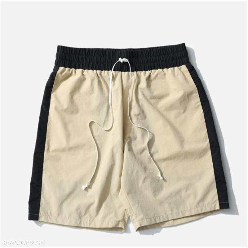 Fashion Youth Vacation Casual Color Block Elastic Waist Short Pants
