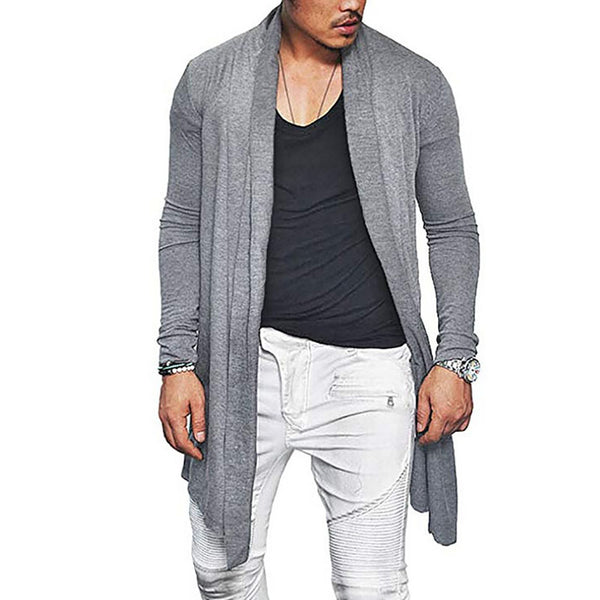 Fashion Mens Solid Color Casual Cardigans Coat
