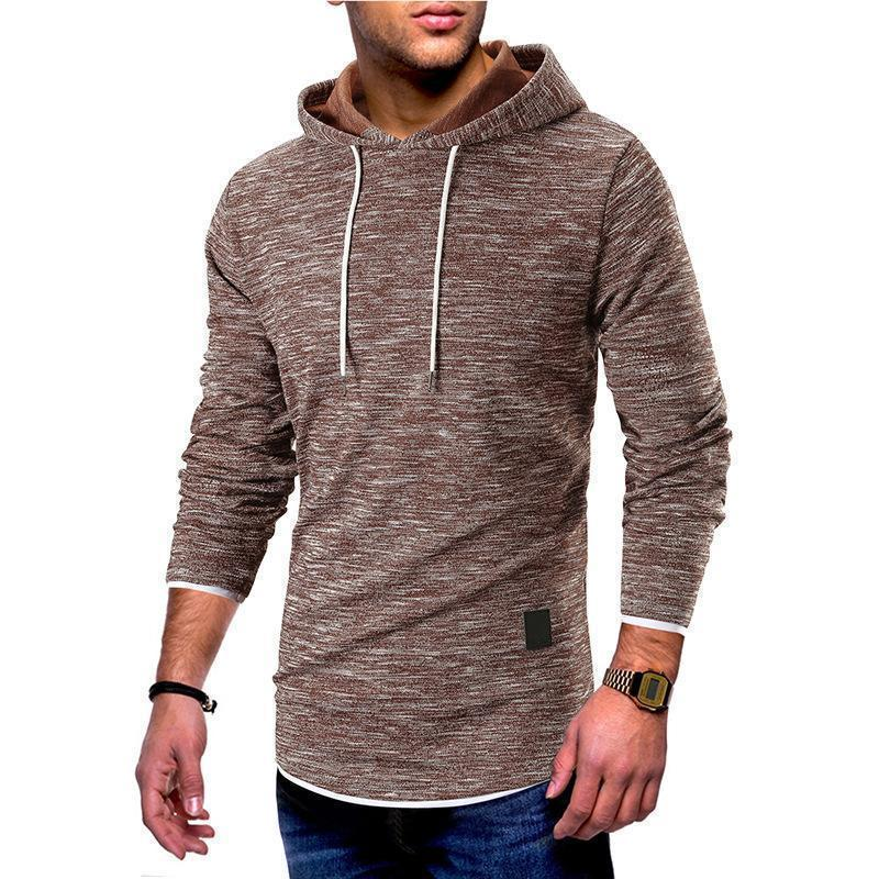Fashion Plain Slim Split Joint Hoodie