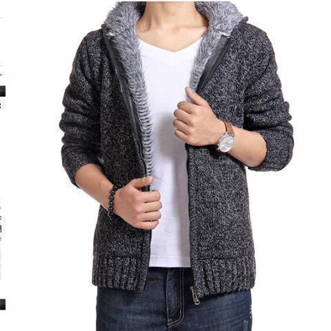 Fashion Winter Thicken Plain Floss Sweater Coat