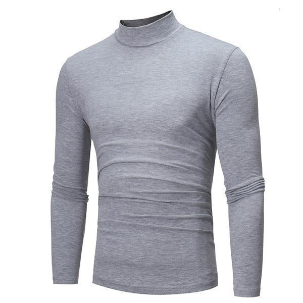 Basic 7-Color High Collar Long-Sleeved T-Shirt