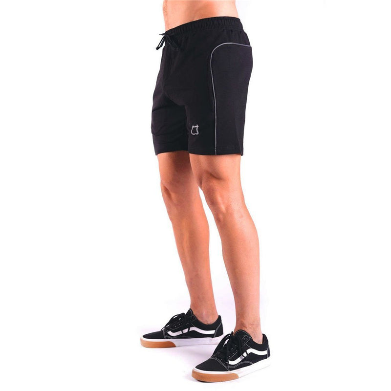 Daily Plain Drawstring Outdoor  Training Loose Short Pants