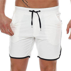 Casual Drawstring Loose Solid Color Short Pants