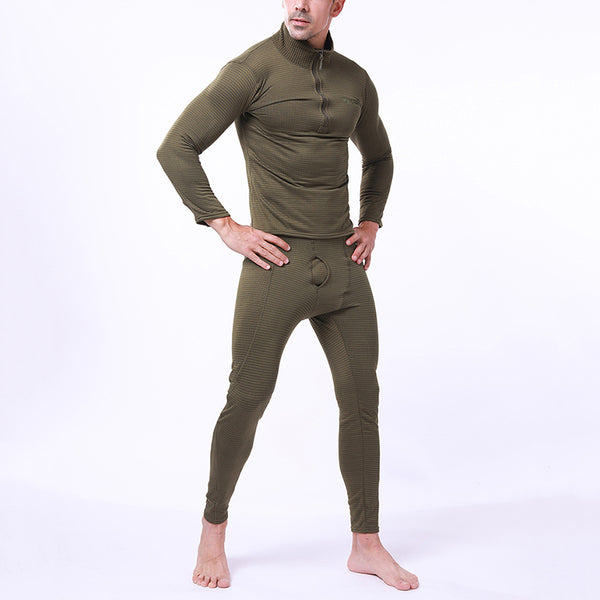 Basic Section Pure Colour Fleece Thermal Underwear