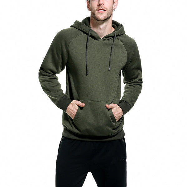 Casual Loose Pure Colour Hooded Sweatshirt