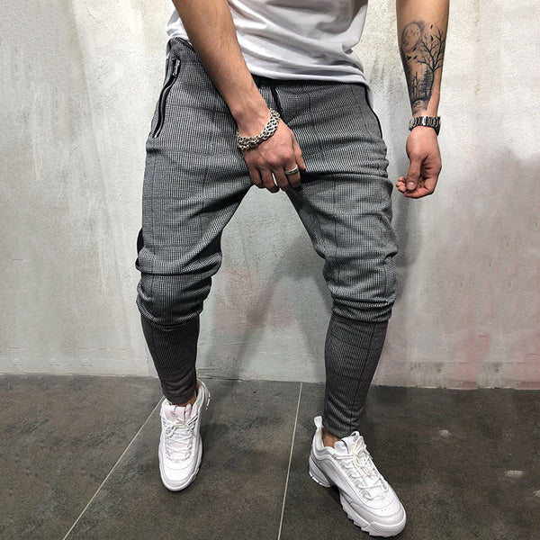 Fashion Fitness Check Casual Sports Pants