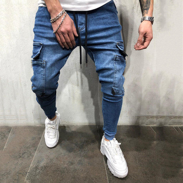 Men's Casual Distressed Pencil Pants