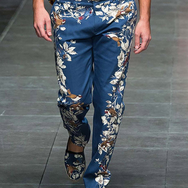 Men's Fashion Printed Zipper Pants