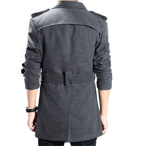 Fashion Long Double-Breasted Coat
