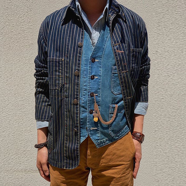 Men's Single Row New Stripe Jacket
