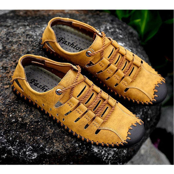 Openwork beach outdoor casual leather sandals