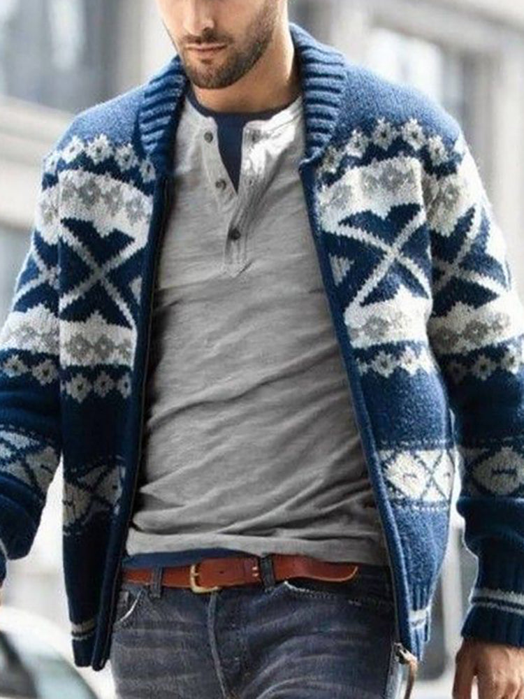 Men's Casual Zip Sweater Jacket