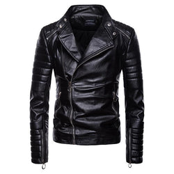 High quality men's motorcycle leather jacket