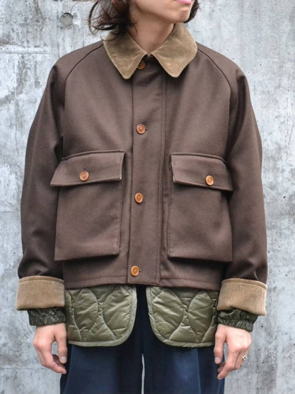 Fashion Turndown Collar Single-Breasted Pockets Jacket