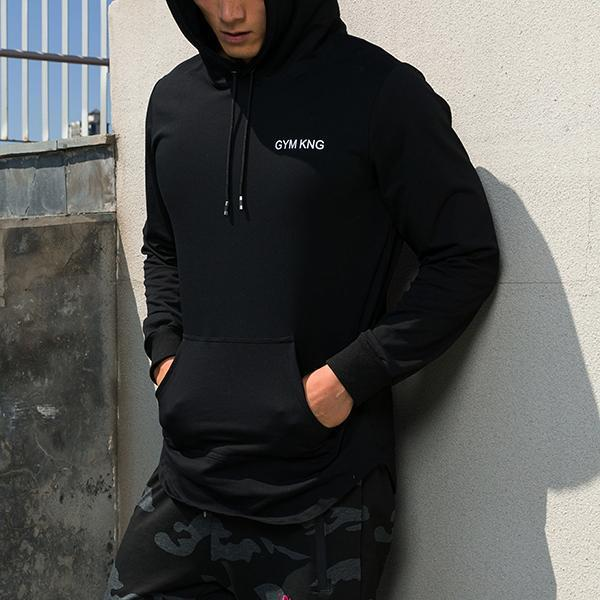 Striped Printed Slim Fitness Training Hoodie