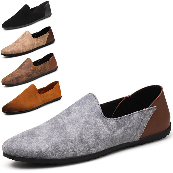 Anti-velvet leather hand breathable sleeve casual bean shoes
