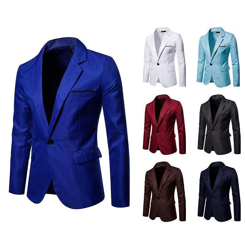 Workplace suit solid color casual business wear jacket