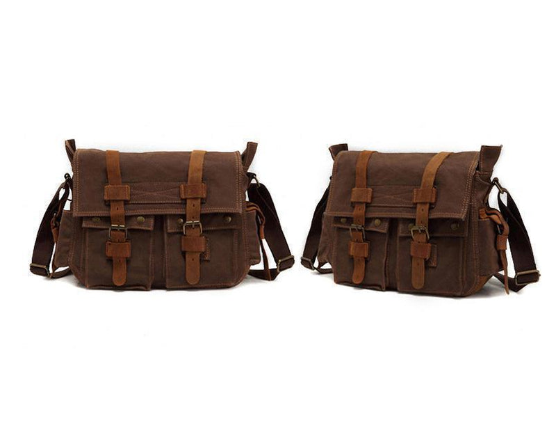 Casual canvas men's messenger bag