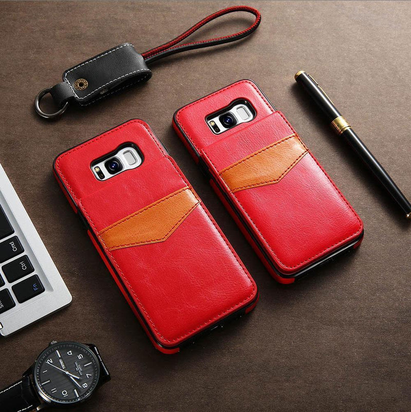 Card Slot Holder Wallet PU Leather Case For Samsung