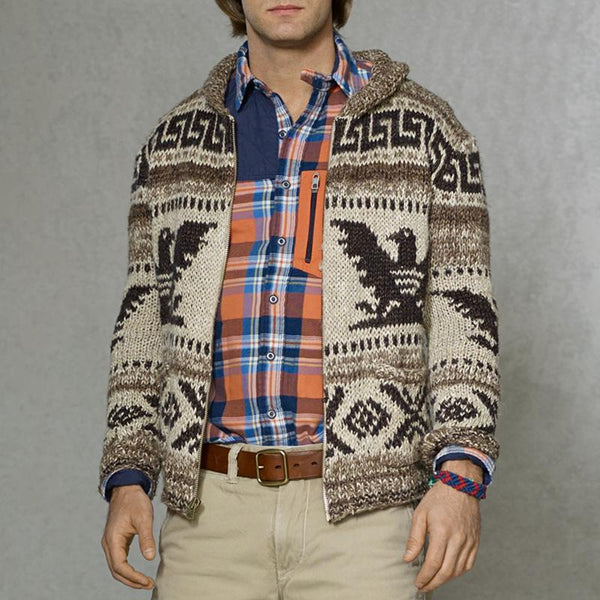 Men's Casual Jacquard Cardigan