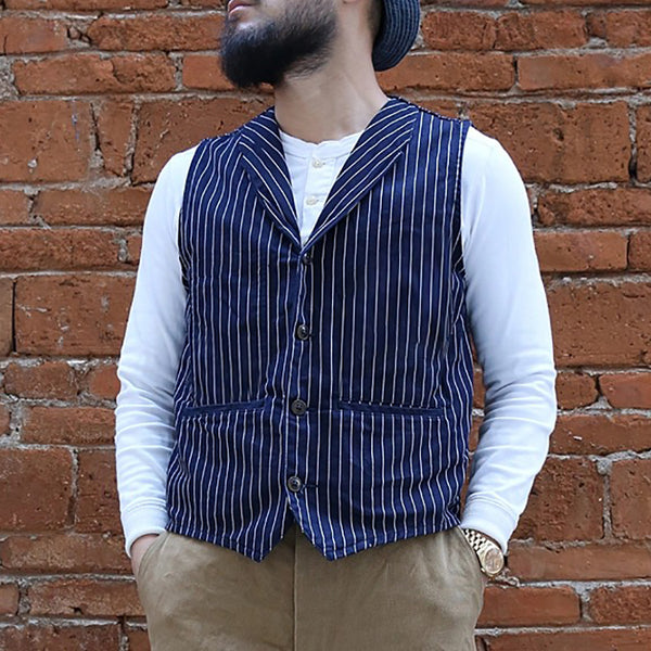 Formal  Men V Neck Striped Vest