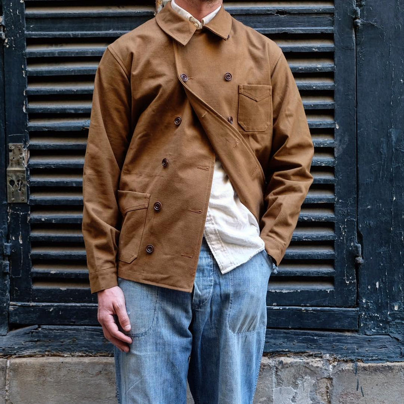 Men's Solid Color Double Breasted Lapel Jacket
