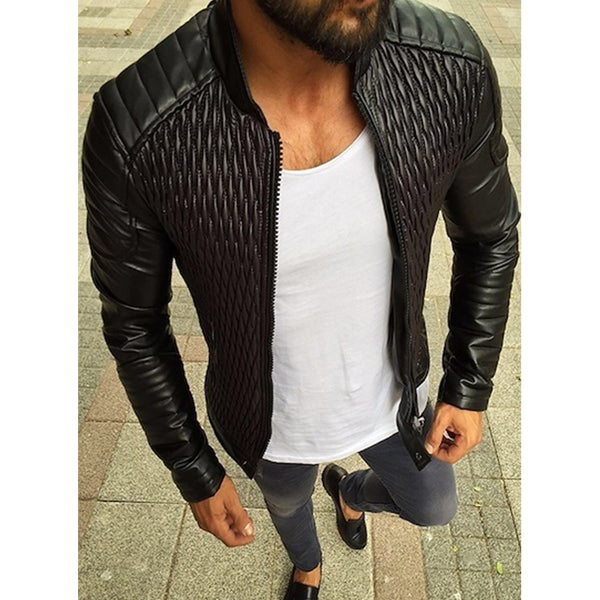 Solid Color Zipper Autumn Winter Jacket